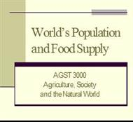 World's Population and Food Supply powerpoint presentation