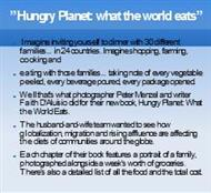 """Hungry Planet: what the world eats"" powerpoint presentation"