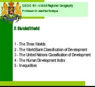GEOG 101 ? World Regional Geography powerpoint presentation