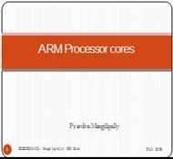 ARM Processor Architecture (II) powerpoint presentation