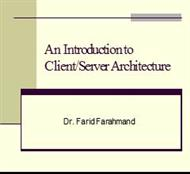 An Introduction to Client/Server Architecture powerpoint presentation