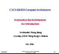 Instruction Set Architecture: An Introduction powerpoint presentation