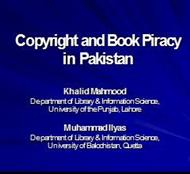 Copyright and Book Piracy in Pakistan by Dr Khalid Mahmood powerpoint presentation