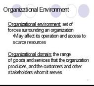 Organizational Environment powerpoint presentation