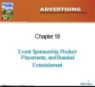 Event Sponsorship, Product Placements, and Branded Entertainment powerpoint presentation