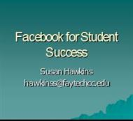 Facebook for Student Success - Teaching and Learning Resources powerpoint presentation