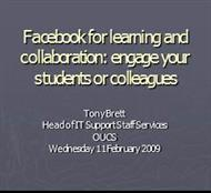 Facebook for Teaching and Communicating - Personal Pages Index powerpoint presentation