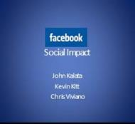 Social Impact of Facebook powerpoint presentation