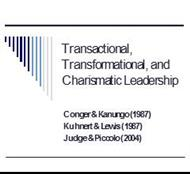 Transactional, Transformational, and Charismatic Leadership powerpoint presentation