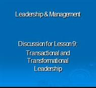 Transactional and Transformational Leadership - SUNY Maritime ... powerpoint presentation
