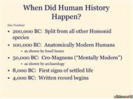 A History of Human Civilization powerpoint presentation