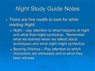 Night by Elie Wiesel powerpoint presentation
