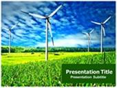 wind power farm animated