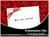 Invitation Card Abstract On Red Background