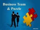 Business Team and Puzzle
