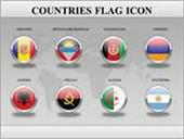Countries Flag Icons Animated