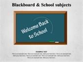 Blackboard and School subjects
